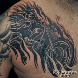 60 Motorcycle Tattoos For Men   Two Wheel Design Ideas_30