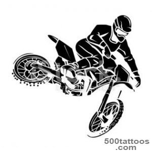 Moto cross rider tattoo stock vector art 54610660   iStock_45