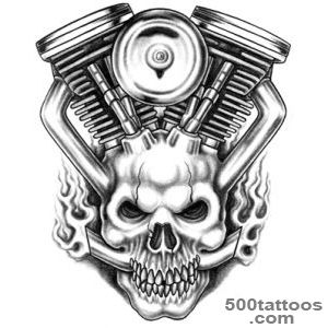 Moto Skull Tattoo Design  HM Art amp Tattoo!™_17