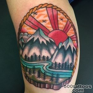 60 Fabulous Mountain Tattoo Designs for All Ages_28