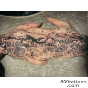 Mountains amp Meadows Hands Scene  Best tattoo ideas amp designs_43