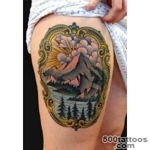 Tattoo mountains, lake and landscape   Ideas Tattoo Designs_35
