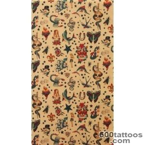 Alexander Henry Fabric Old School Tattoo Tea Tan by voodoobetty _18