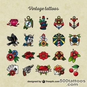 Old school tattoo icons Vector  Premium Download_2