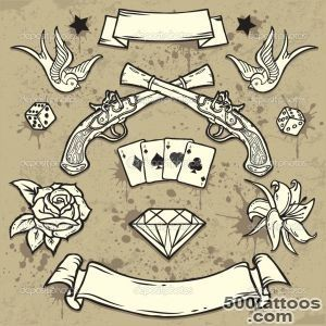 Stock Vector Art Tattoo old school Depositphotos®_3