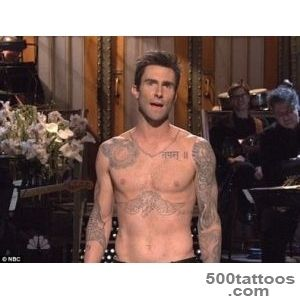 Adam Levine finds space for 3 more tattoos on his already inked _27