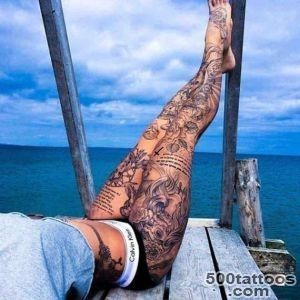 80 Fashionable and Wonderful Leg Tattoos and Designs_27