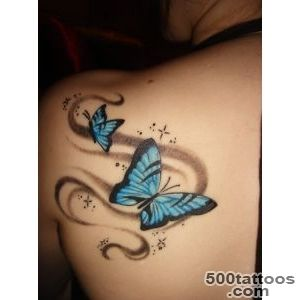 Hd flower tattoos on shoulder blade_21