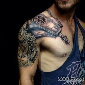 100 Exceptional Shoulder Tattoo Designs for Men and Women_2