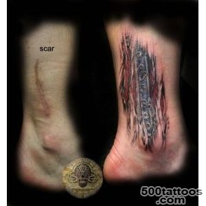 40+ Mindblowing Body Tattoo design Ideas to cover Scars_5