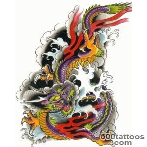 I like the colors  Tattoo ideas  Pinterest  Dragon Tattoos _37