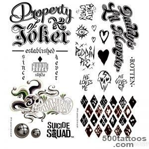 Suicide Squad Temporary Tattoo Pack_45