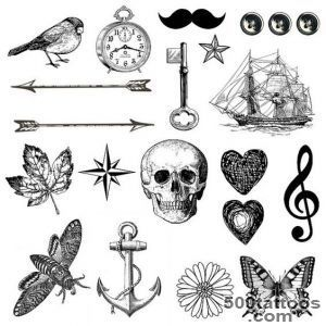 Tiny Tattoo   tattoo pack 21 temporary tattoos   arrow, key _36