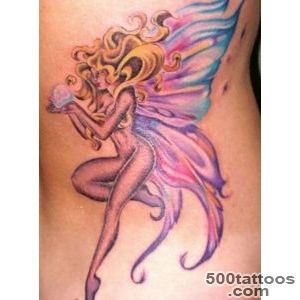 Colorful fairy with a pearl in hands tattoo   Tattooimagesbiz_14