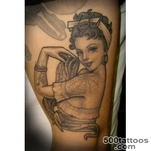 Pin Up Tattoos Designs, Ideas and Meaning  Tattoos For You_40