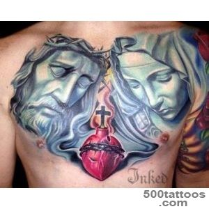 Religious chest piece by Josh Hagan #InkedMagazine #religious _17