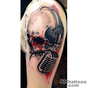 realistic Rock n Roll Scull by wwwfallout tattoode Germany _32
