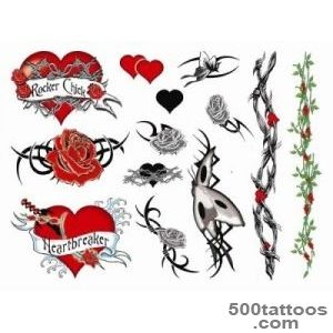 Rock chick Tattoo Set  TattooForAWeekcom   Temporary Tattoos _19