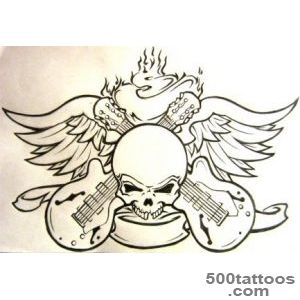 Rock n Roll Lips Tattoo Design_16