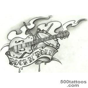 rock tattoo flash by stephcand on DeviantArt_3
