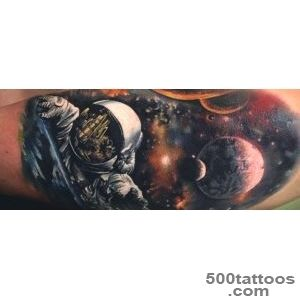70 Outer Space Tattoos For Men   Galaxy And Constellations_36