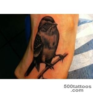 40 Superlative Sparrow Tattoo Designs  CreativeFan_25