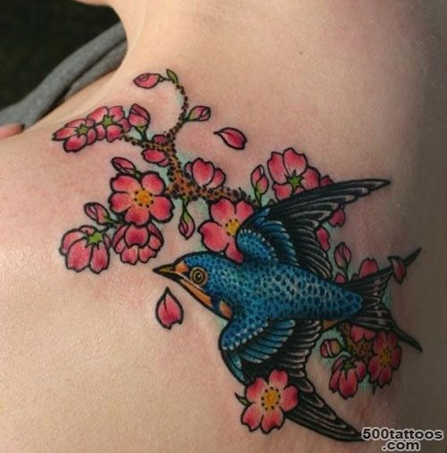 12 Inspiring Swallow And Sparrow Tattoos_33