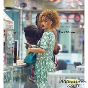 Rihanna Hits The Tattoo ShopUnbothered By Dangerous Stalker _45
