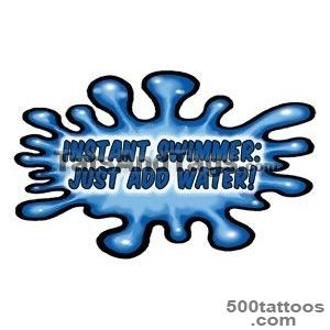 Swimming Temporary Tattoos  Swim Designs by Custom Tags_34