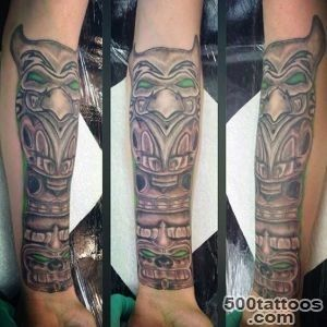 70 Totem Pole Tattoo Designs For Men   Carved Creation Ink_17
