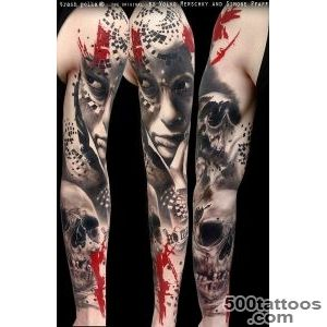 Realistic Trash Polka Tattoos   TATTOO FU_46