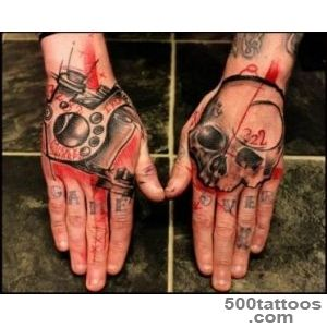 Skull Hand Trash Polka Tattoo by Beautiful Freak_14