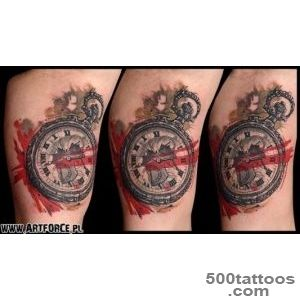 Trash Polka Clock Tattoos   Tattoes Idea 2015  2016_21