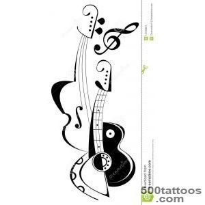 Guitar And Violin   Tattoo Stock Images   Image 10440824_14