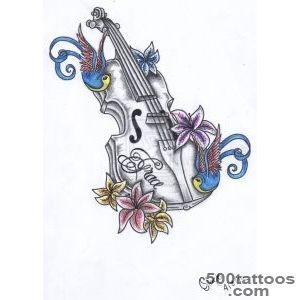 Top Violin Drawing Images for Pinterest Tattoos_26