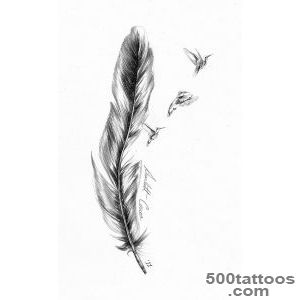 Feather Tattoo Images amp Designs_13