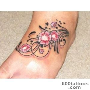 Hd flower chain tattoos on foot_44
