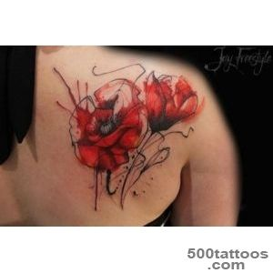 Adorable Poppies Tattoo Ideas to Look Peaceful   WomenitemsCom_37