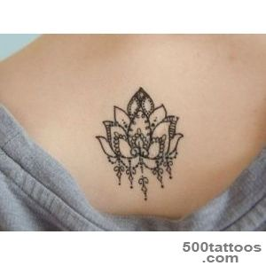 Lotus Flower Temporary Tattoo   Temporary Tattoos + More _10