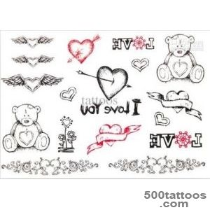 Temporary Tattoos Sexy Cat Tattoo Sticker Waterproof Decoration _21