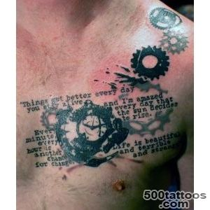 chest clock gear text tattoo  I tattoo @Tattoo Boogaloo 528…  Flickr_33