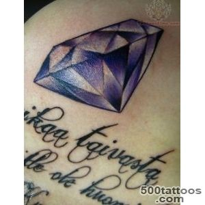 Diamond And Text Tattoo_43