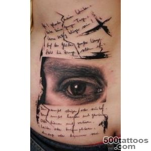 Eye and text tattoo on ribs   Tattooimagesbiz_10