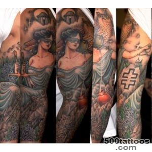 Owl and Themis tattoo sleeve by Three Kings Tattoo  Best Tattoo _27