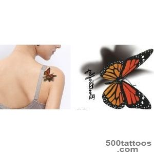2015 new hot waterproof butterfly color three dimensional pattern _10