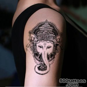 2pcs Elephant Pattern Waterproof Temporary Tattoo Stickers On The _39