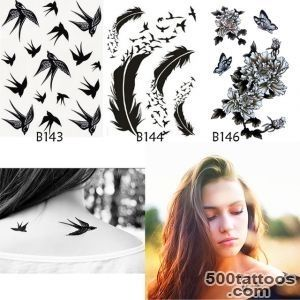 3pcs Beauty Body Art Waterproof Temporary Tattoos Women Black _14