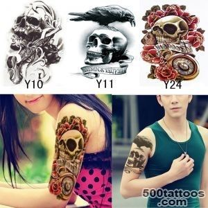 3Pcs Sexy Skull Waterproof Fake Temporary Tattoo Stickers Body Art _41