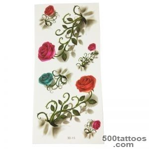 4pcs New Flower Waterproof Temporary Tattoos Sticker For Body Art _6