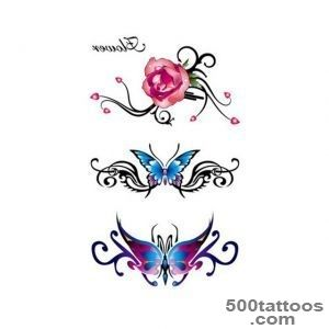 Online Shop 2Pcs Temporary Tattoo Stickers On Body Rose Foil Decal _26
